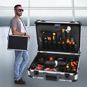 Home Appliance Repair Toolbox Woodworking Storage Electrician Case With Strap