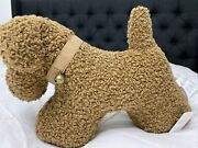 Pottery Barn Cozy Teddy Faux Fur Dog Pillow Tobacco Brown Nip Sold Out
