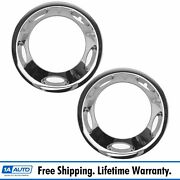 Oem Front Chrome Wheel Center Cap Cover Lh Rh Pair For Gm Dually Pickup Truck