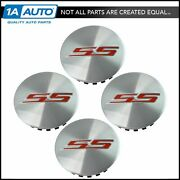 Oem Aluminum Wheel Center Cap With Red Ss Logo Kit Set Of 4 For Chevy Camaro
