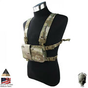 Tmc Modular Chest Rig Tactical Vest Simple Version W/ 5.56 Mag Pouch Hunting