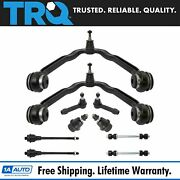Trq Control Arm Ball Joint Tie Rod Sway Link Front Suspension Kit Set 10pc
