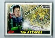 2012 Ted Dastick Jr.card Td1, Mars Attacks Spoof Philly Show Exclusive Signed
