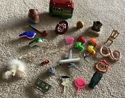 Toy Box Junk Drawer Mixed Lot Of 28 Toys Figures Characters Miniatures Look