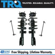 For 07-09 10 11 12 Acadia Traverse Enclave 4pc Front Struts And Sway Bar Links Kit