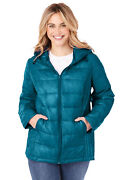 Woman Within Womenand039s Plus Size Packable Puffer Jacket