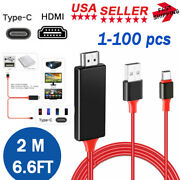 Mhl Usb-c Type C To Hdmi 4k 1080p Hd Tv Cable Adapter For Android Samsung Us Lot