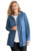 Woman Within Women's Plus Size Lightweight Hooded Jacket