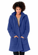 Woman Within Womenand039s Plus Size Hooded A-line Fleece Coat