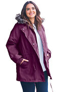 Woman Within Womenand039s Plus Size Quilt-lined Taslon Anorak Jacket