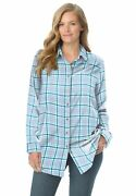 Woman Within Womenand039s Plus Size Classic Flannel Shirt