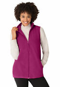 Woman Within Womenand039s Plus Size Zip-front Microfleece Vest