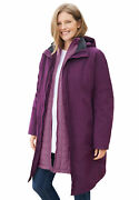 Woman Within Womenand039s Plus Size 3-in-1 Hooded Taslon Jacket