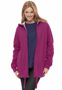 Woman Within Women's Plus Size Thermal Waffle Lined Fleece Hoodie