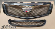 For Xts 2013-2017 V Sport Cadillac Xts Grill Upper + Lower Radiator Grille Kit
