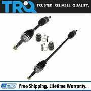 Trq Front Lower Ball Joints Cv Axle Shafts Kit Set Of 4 For Plymouth Dodge New