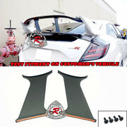 Type-r Style Rear Spoiler Wing Stabilizers Abs Fit 17-21 Civic 5dr Hatchback