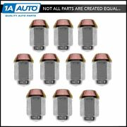 Wheel Lug Nut Cap Kit Set Of 10 For Chevy Gmc Ford Lincoln Mercury