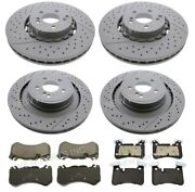 Front And Rear Disc Brake Rotors And Pads Kit For Mercedes W218 W212 Cls63 Amg