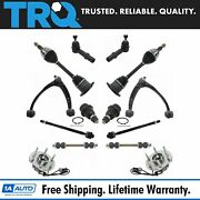 Trq Front 14pc Steering Suspension Kit Hubs Axles Tie Rods Sway Links For Gm