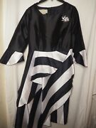 Dresses By Nubiana Black And White Size20w Inventory L-77