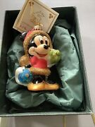 Krebs Glas Lauscha Disney Exclusive Christmas Ornament Minnie Mouse In Box