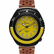 Squale 2002.pvd.bky.y.pts 1000 Meter Swiss Automatic Dive Wristwatch Leather