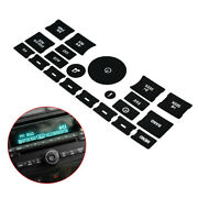 Black Vinyl Radio Button Fix Panel Decal Sticker For 2006-2015 Chevy Gm Buick X1