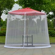 Umbrella Mosquito Netting Mesh Screen Outdoor Patio Tables Covers With Zipper