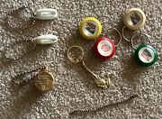 Vintage Lot Of 8 Advertising Princess Phones Dairy Queen And Buick Keychains