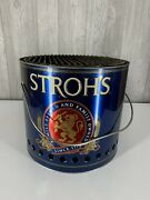 Strohs Beer Bucket Grill-rare-unique Free Shipping