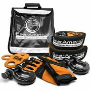 Gearamerica Off-road Recovery Kit   Tow Strap + Tree Saver + Heavy Duty Snatch B