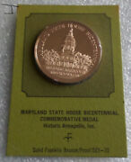 Maryland State House George Washington Resigns Continental Army Bronze Medal