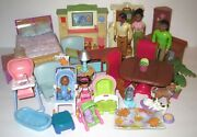 Bundled Lot Fisher Price Loving Family Dollhouse Furnishings African American
