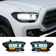For Toyota Tacoma Led Headlights Projector Drl Replace Oem Headlights 2016-2021