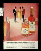 1959 Walkers Deluxe Straight Bourbon Whiskey Vintage Print Ad 8862