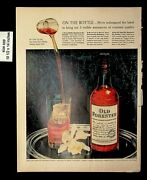 1956 Old Forester One Bottle Pouwing Glass Whiskey Vintage Print Ad 9080