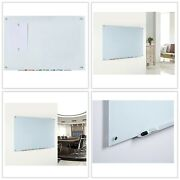 Audio-visual Direct Magnetic Standard Dry-erase Board Set White Tempered Glass