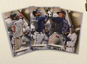 Ronald Acuna Jr Braves Lot Of 3 Cards Rc - 7/10 Made 2018 Topps Gold Label 5x7