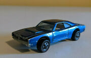 Vintage Rare Hot Wheels Redline Custom Charger Blue 1967 1/64 With Metal Button