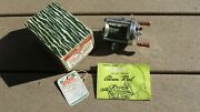 Vintage Fishing Reel Pflueger Akron 1893-l In Original Box With Papers Casting