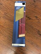 Nos Vintage 1995 National Mfg. Gallery Solid Brass Kick Plate 8 X 34