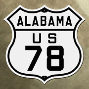Alabama Us 78 Route Marker Shield Road Sign Bankhead Highway