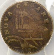 1787 New Jersey Post Colonial Copper Very Rare 2nd U Over S Pluribus Pcgs F 15