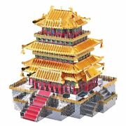 3d Metal Puzzle Guanque Tower Diy Model Kits Laser Cut Jigsaw Building Toy Gift