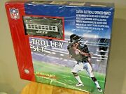 Mth Nfl Football New York Jets Trolley Ready To Run Train Set - Factory Sealed