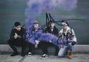 Fall Out Boy Mania Signed Cd Very Rare Autographed All 4 Members Postcard