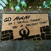 Go Away Or I Shall Taunt You A Second Time Door Mat