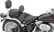 Mustang Studded Motorcycle Solo Seat And Backrest 06-17 Harley Softail Fxst Flstfi