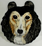 Sheltie Snack Plate / Platter 13 3/4 X 12 Dogs By Nina Excellent Used Collie